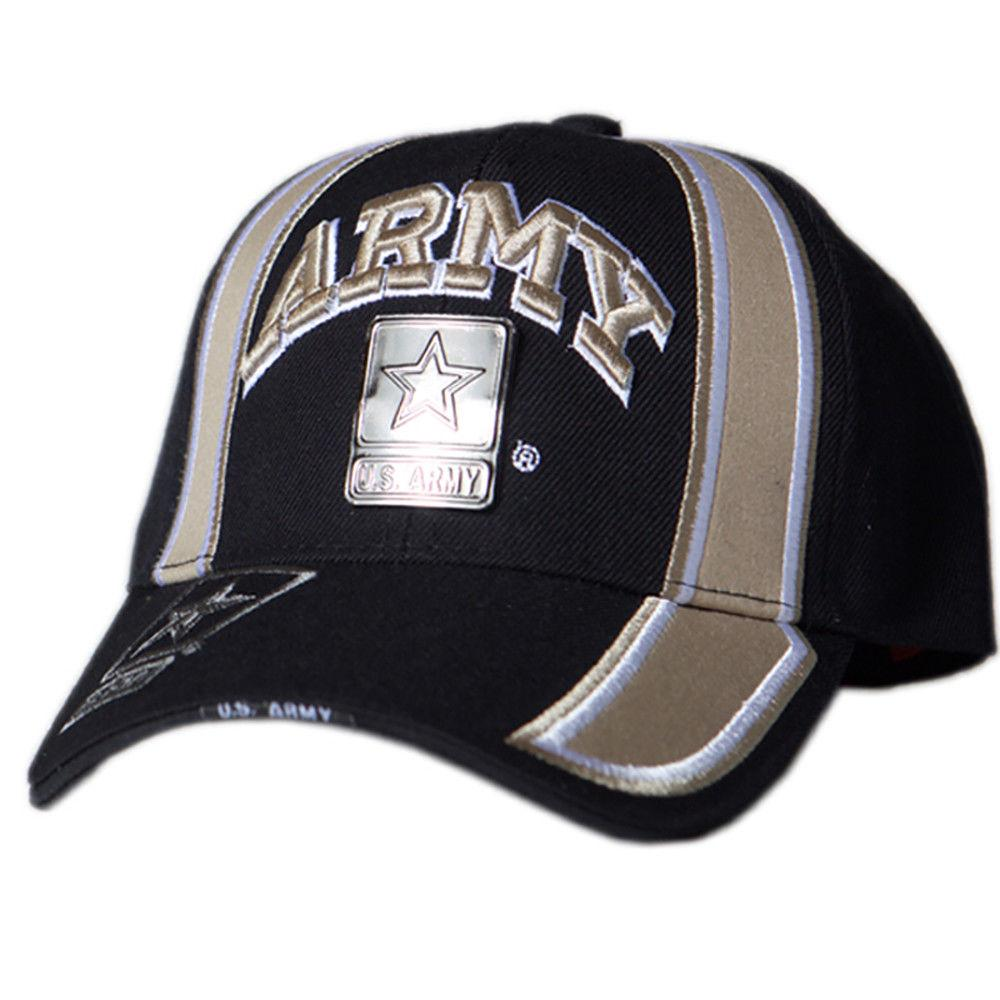 US Honor Official Embroidered Racing Army Metal Logo Khaki Baseball Caps Hats