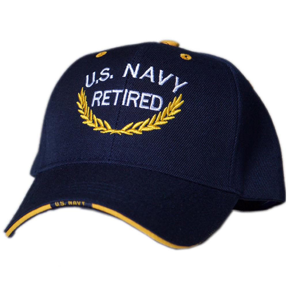 US Honor Official Embroidered Retired U.S. Navy Baseball Caps Hats