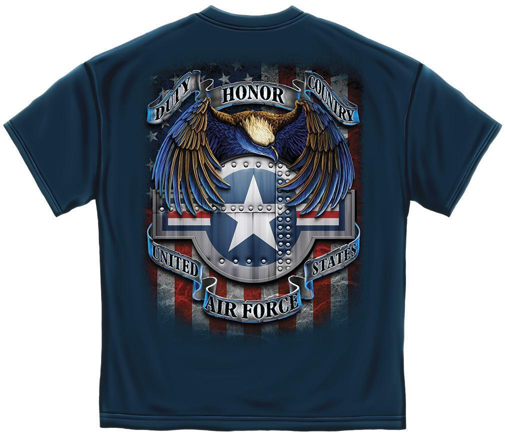 Erazor Bits T-Shirt - United States Air Force - Star Shield - Navy