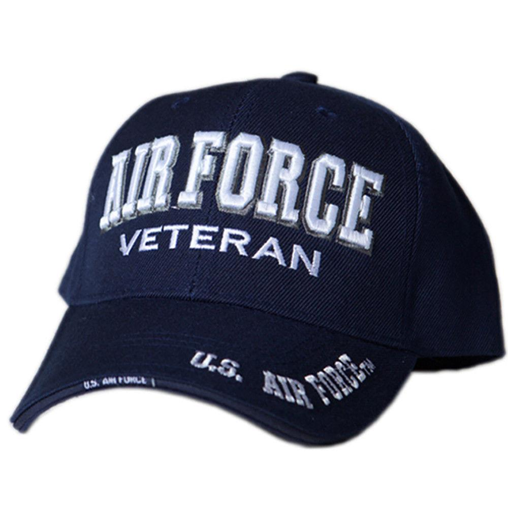 US Honor Official Embroidered Veteran Shadow Air Force Baseball Caps Hats