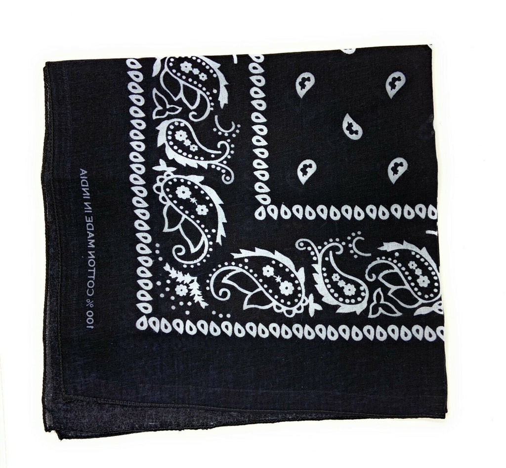 Casaba Paisley Printed Bandana 100% Cotton Neck Head Band Wrap Scarf Biker
