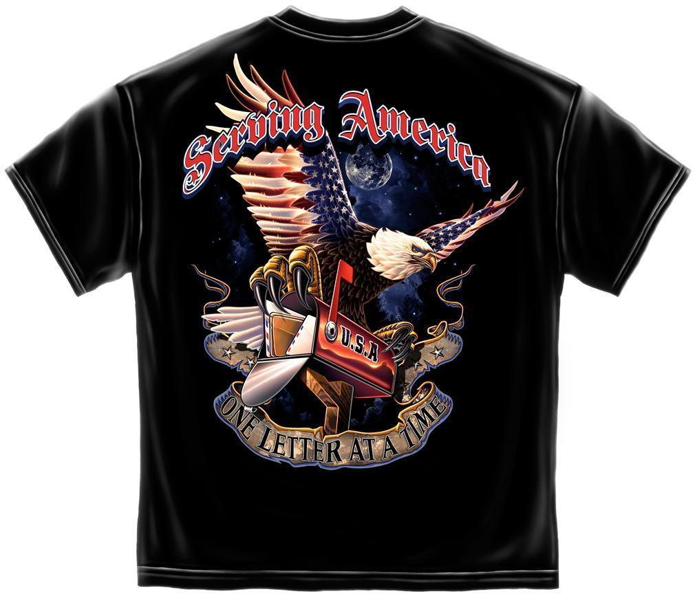 Erazor Bits T-Shirt - American Postal Worker Serving America One Letter At A Tim