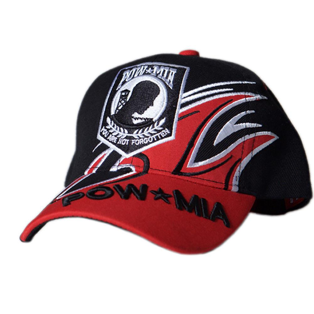 US Honor Embroidered Shark Fin POW/MIA Baseball Caps Hats
