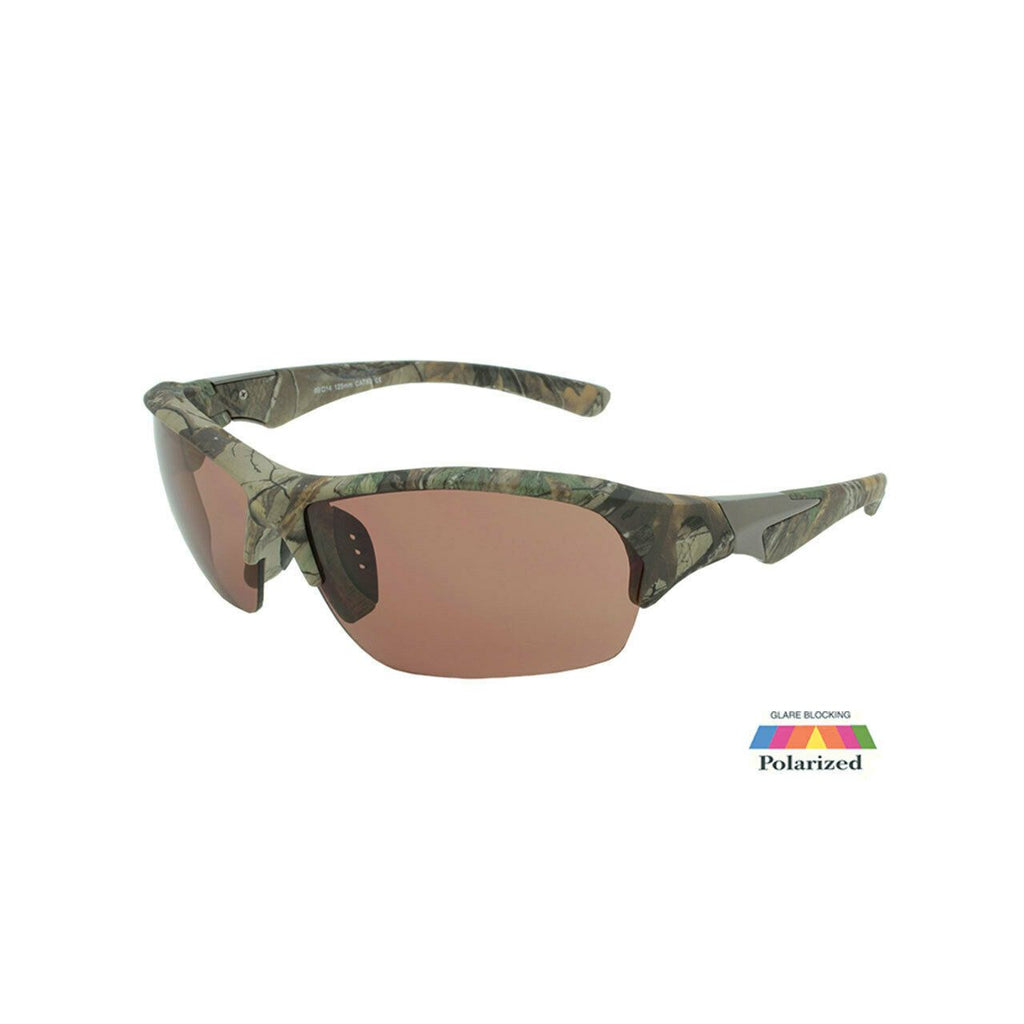 RacerX Men's Sunglasses RealTree Camouflage Polarized UV400 Sport Wrap w Pouch
