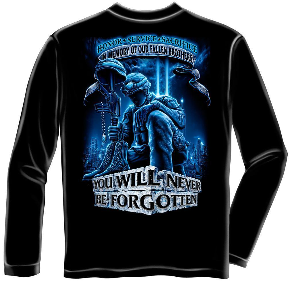 Erazor Bits Long Sleeve T-Shirt - You Will Never Be Forgotten - Fallen Solider -