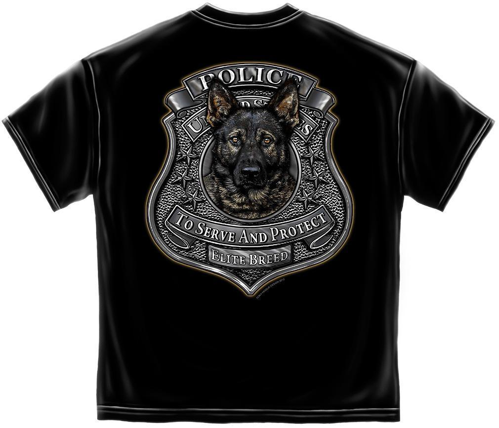 Erazor Bits T-Shirt - Elite Breed - K-9 Unit - Black