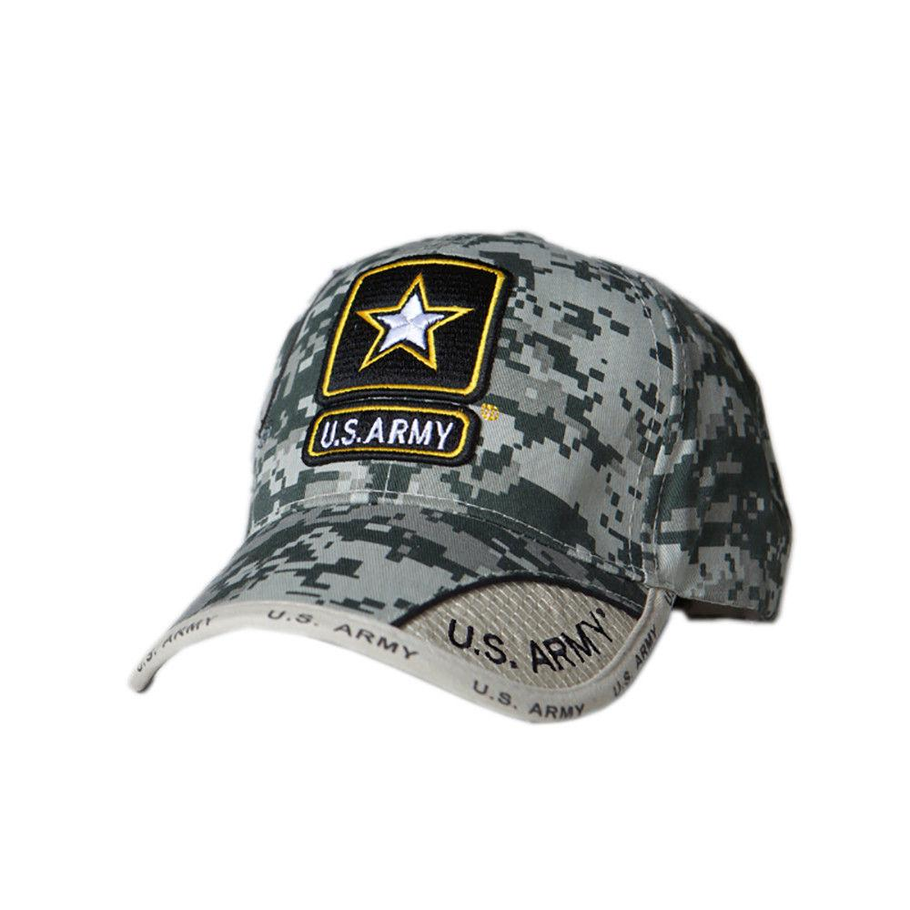 US Honor Official Embroidered Digital Pixel Camo Army Star Baseball Caps Hats