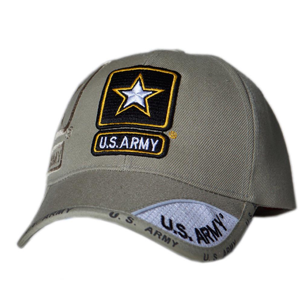 US Honor Official Embroidered Shadow Army Star Khaki Baseball Caps Hats