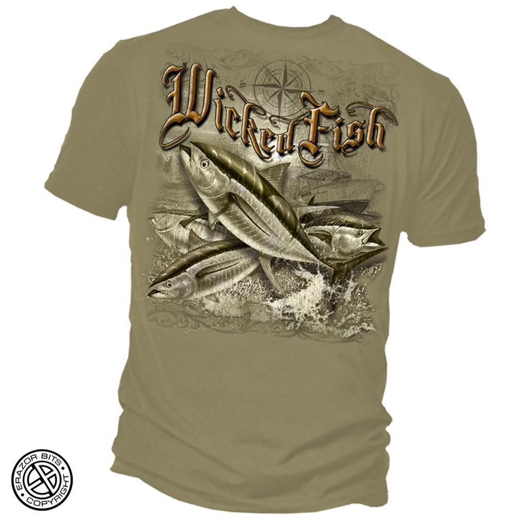 Erazor Bits T-Shirt - Wicked Fish - Tuna - Brown