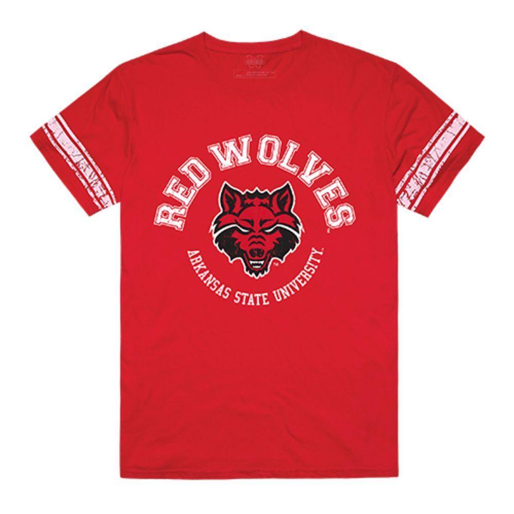 Arkansas State University Red Wolves NCAA Men's Football Tee T-Shirt Red