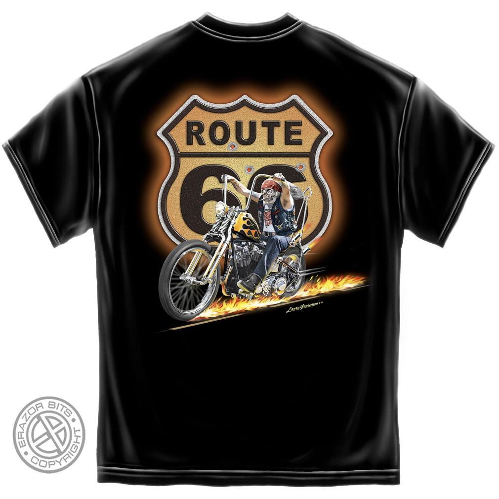 Erazor Bits T-Shirt - Hot Rod - Route 66 - Hell On Wheels - Black