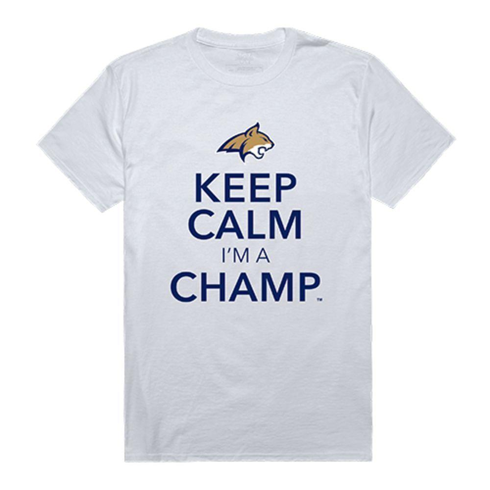 Montana State University Bobcats NCAA Keep Calm Tee T-Shirt White