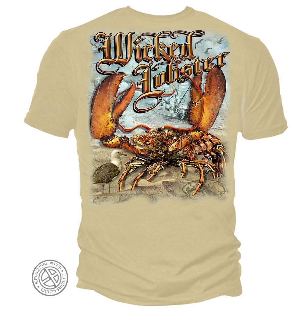 Erazor Bits T-Shirt - Wicked Fish - Wicked  Lobster - Sand