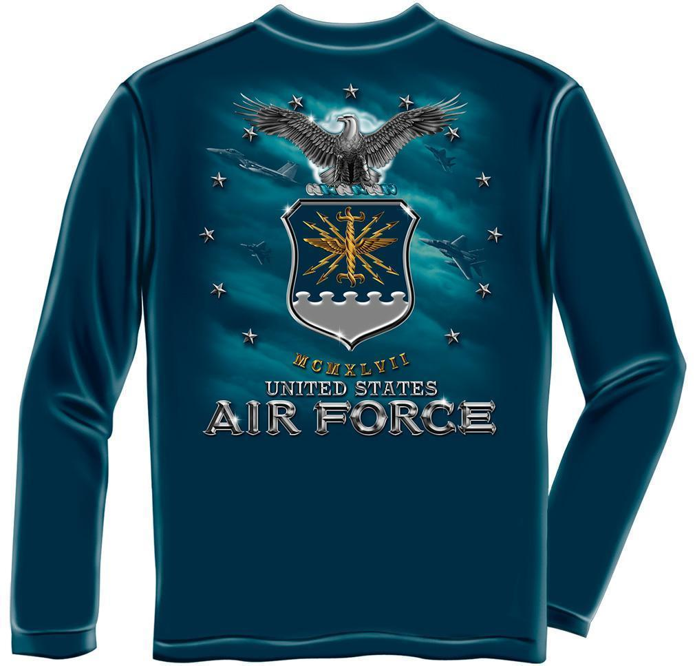 Erazor Bits Long Sleeve T-Shirt - United States Air Force - USAF Missile - Navy