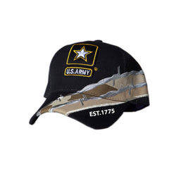 US Honor Official Embroidered Barbed Wire Army Star Logo Baseball Caps Hats