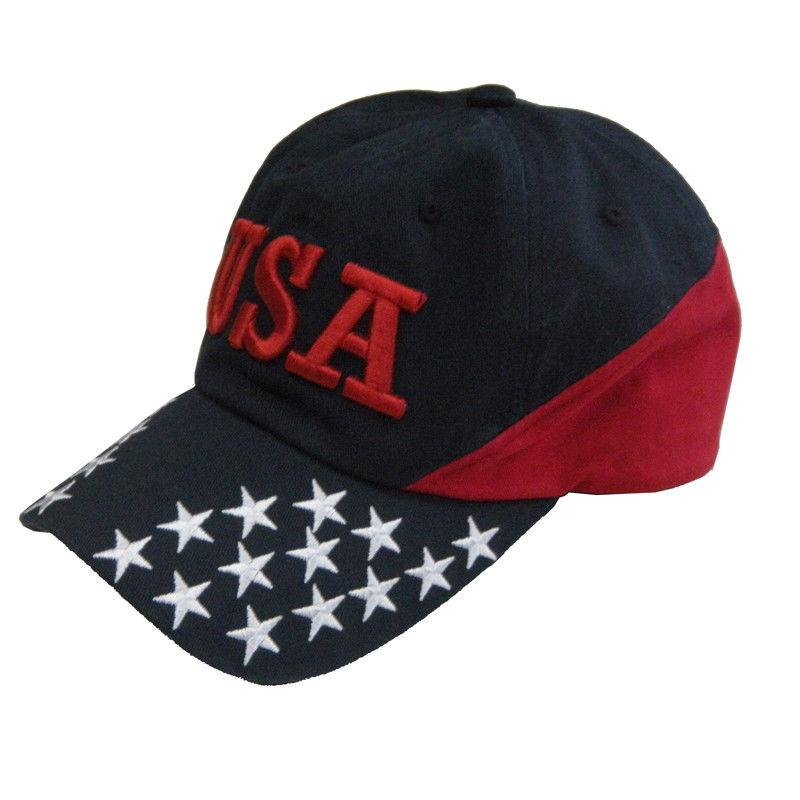 US Honor Stars and Stripes Embroidered USA Dad Cotton Hats Caps