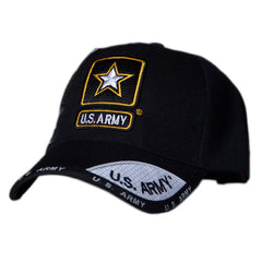 US Honor Official Embroidered Shadow Army Star Black Baseball Caps Hats