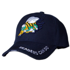 US Honor 3D Embroidered Navy Seabees Can Do Baseball Caps Hats