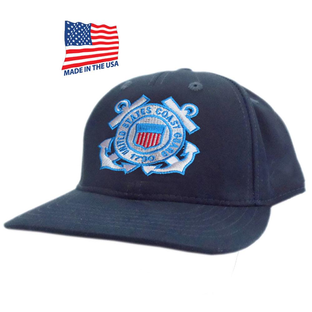 Made in USA US Honor Embroidered US Coast Guard Logo Baseball Caps Hats