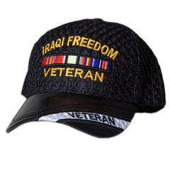 US Honor Embroidered Air Flow Iraqi Freedom Veteran Bar Baseball Caps Hats