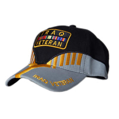 US Honor Embroidered Heritage Iraq Veteran Bar Baseball Caps Hats