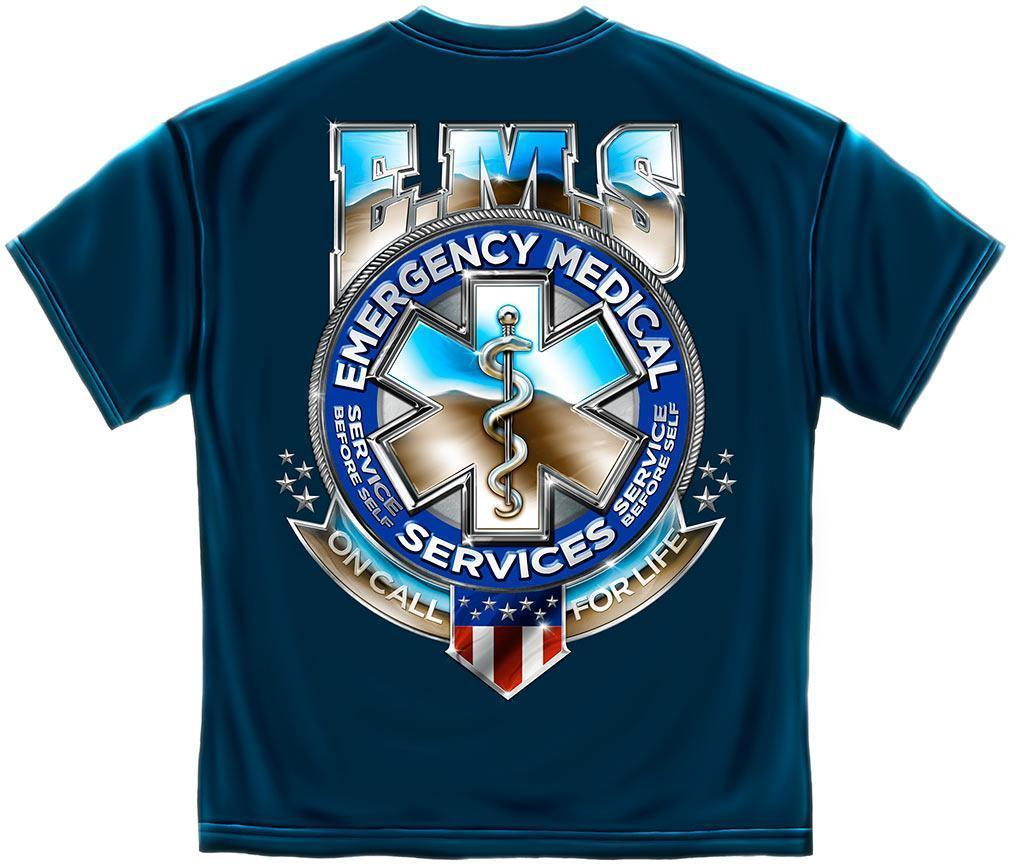 Erazor Bits T-Shirt - Emergency Medical Service  - On Call For Life EMS Snake -