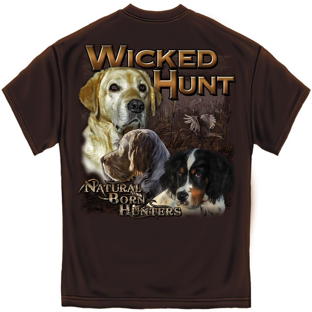 Erazor Bits T-Shirt - Wicked Hunt - Natural Born Hunters - Brown