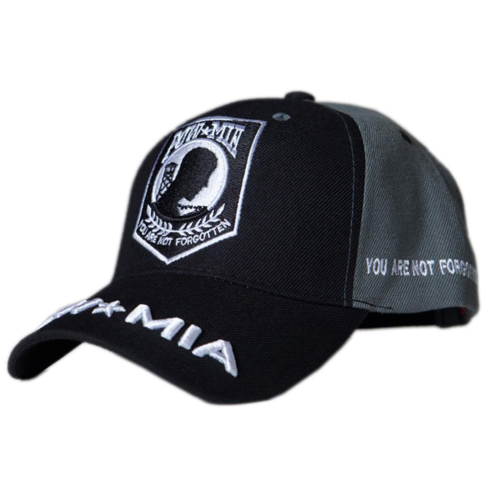 US Honor Embroidered Soldier POW/MIA Baseball Caps Hats