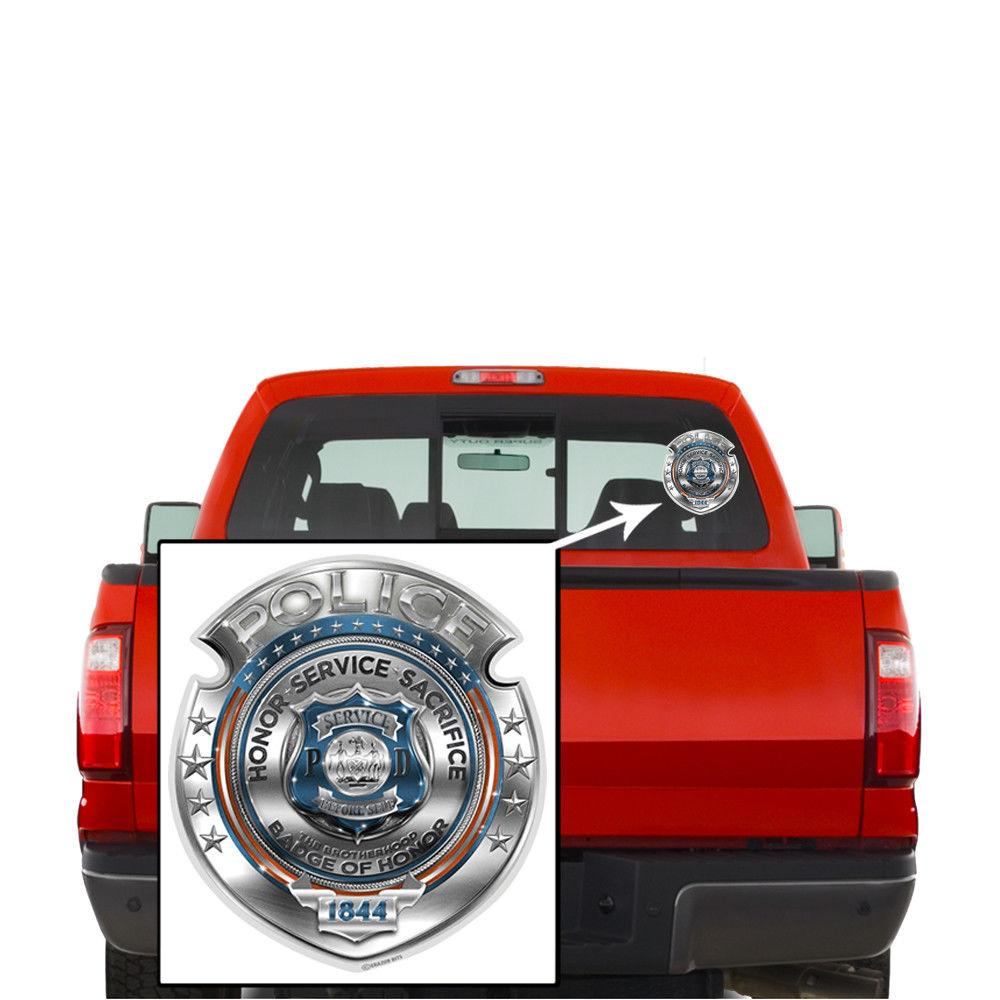 Law Enforcement Police Honor Courage Sacrifice Badge Decal Sticker