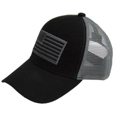 US Honor American Flag Patriotic Trucker Cotton Hats Caps - Black