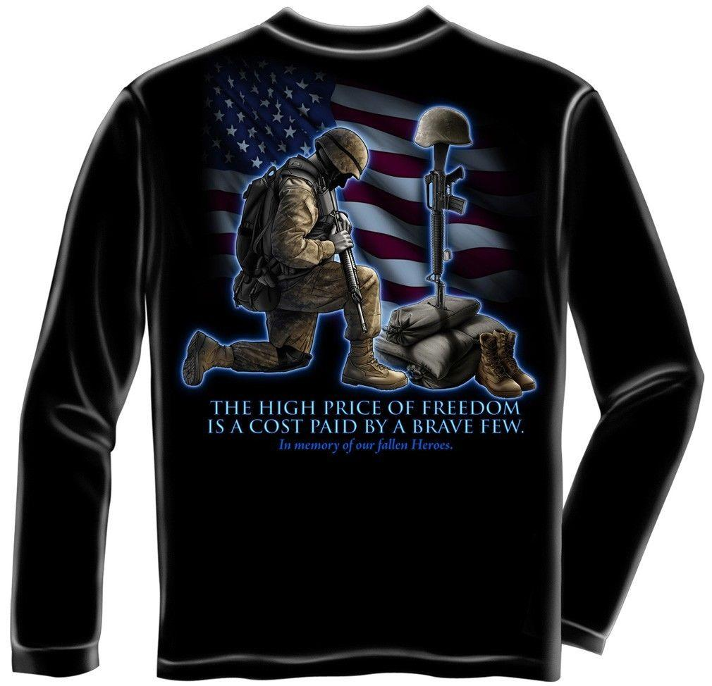 ERAZOR BITS LONG SLEEVE T-SHIRT SOLDIERS KNEELING IN MEMORY OF FALLEN HEROES AME