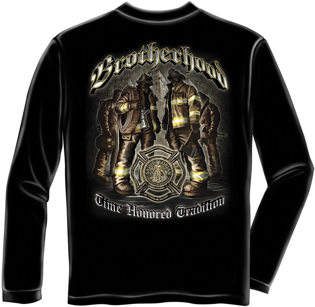 Erazor Bits Long Sleeve T-Shirt - Fire Fighter - FireFighter Brotherhood - Black