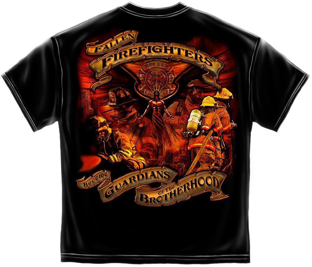 Erazor Bits T-Shirt - Elite Breed - Fallen Fire Fighter - Black