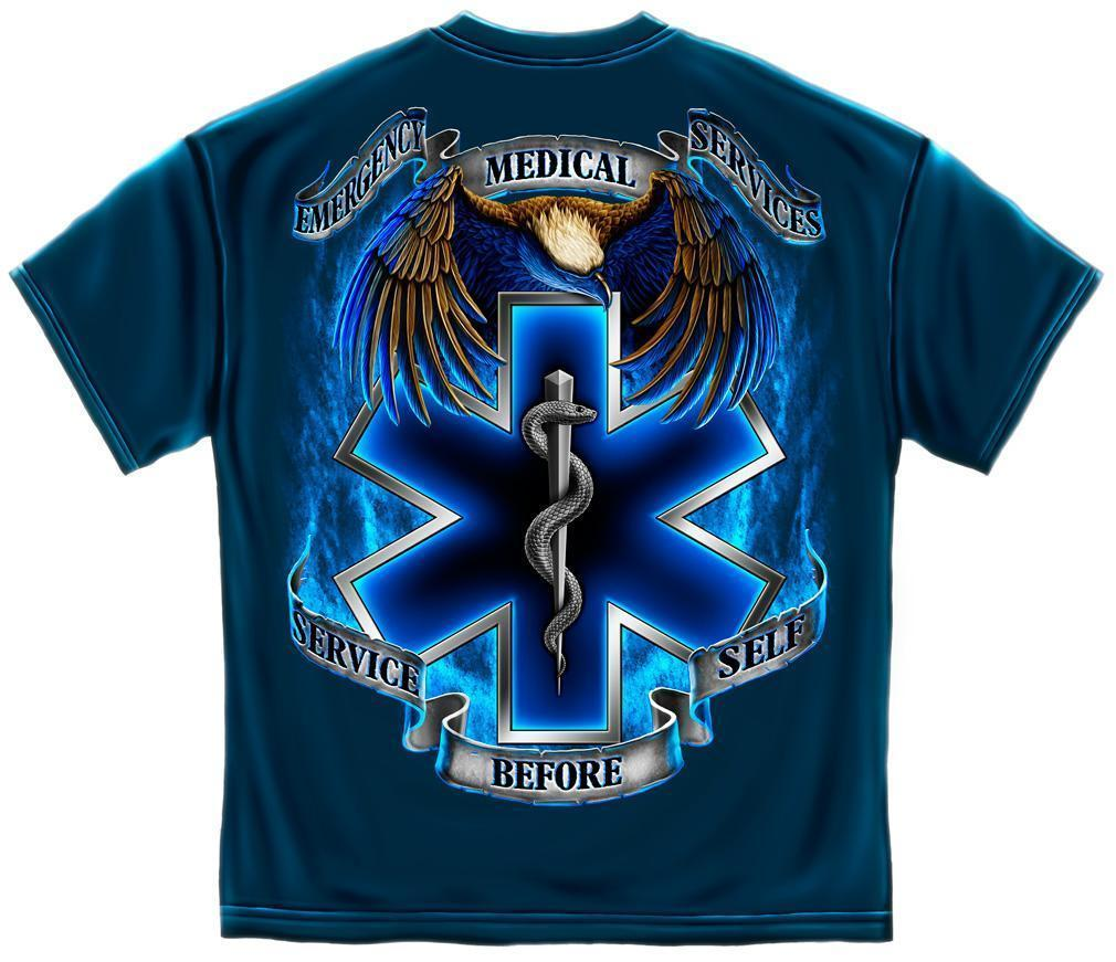 Erazor Bits T-Shirt - Emergency Medical Service - EMS Service Before Self - Navy