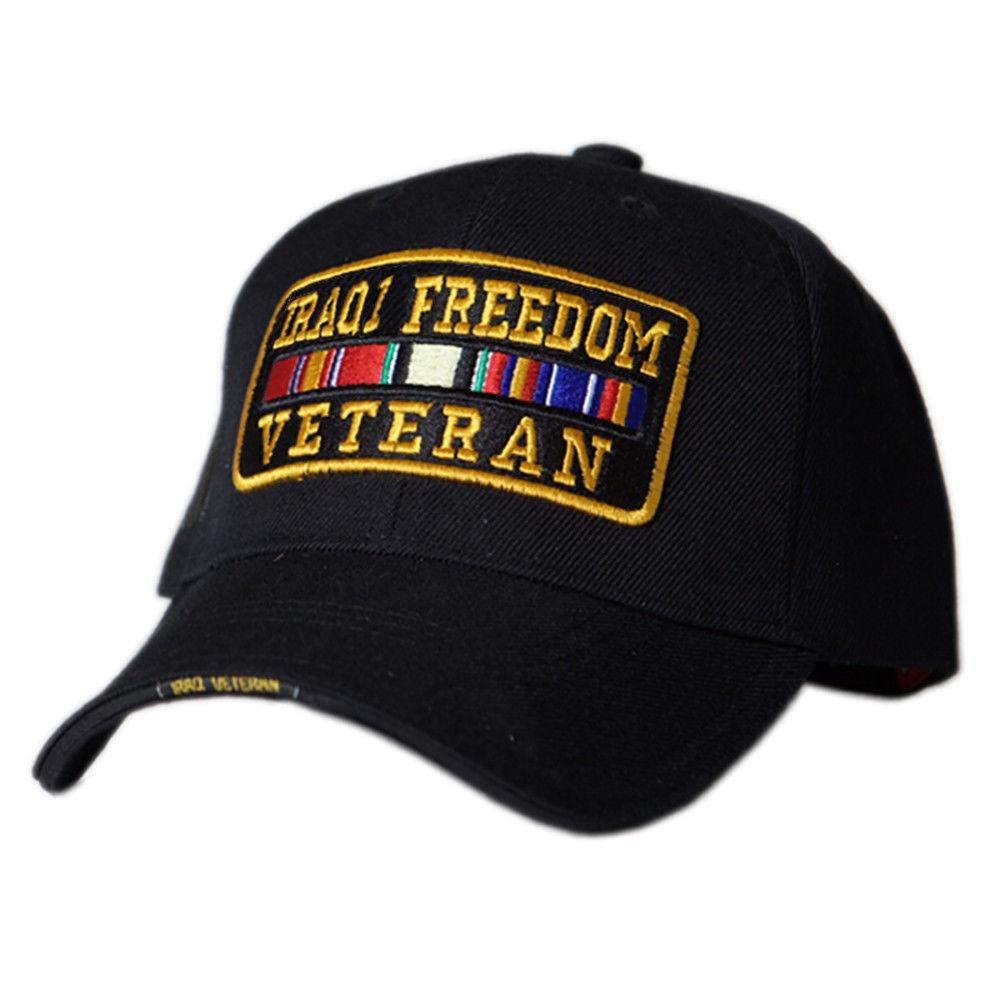 US Honor Embroidered Valiant Iraqi Freedom Veteran Bar Baseball Caps Hats