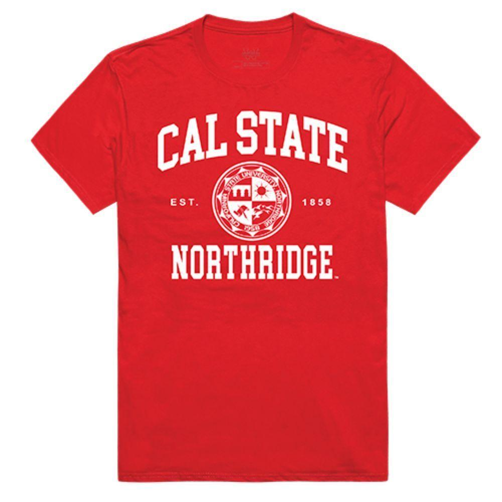 CSUN California State University Northridge Matadors NCAA Seal Tee T-Shirt Red