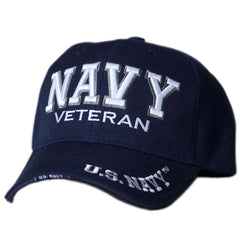 US Honor Official Embroidered Veteran Shadow Navy Baseball Caps Hats