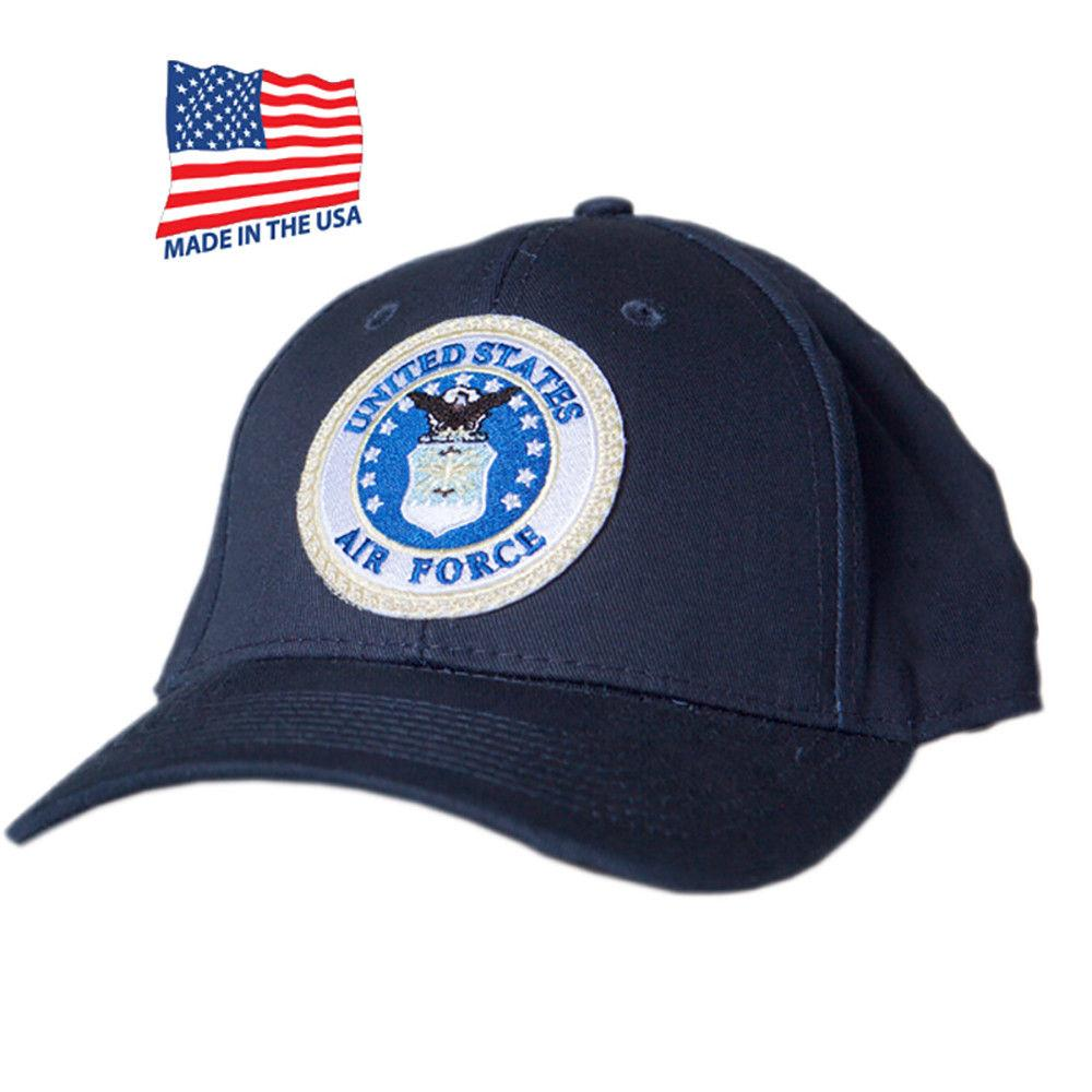 US Honor Made in USA Official Embroidered Air Force Round Baseball Caps Hats