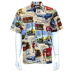 David Carey Vintage Classic American Hawaiian Camp Shirts Route 66 Pickup Trucks