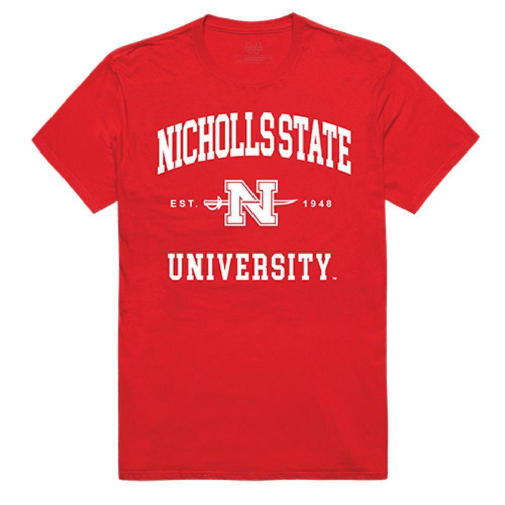 Nicholls State University Colonels NCAA Seal Tee T-Shirt Red