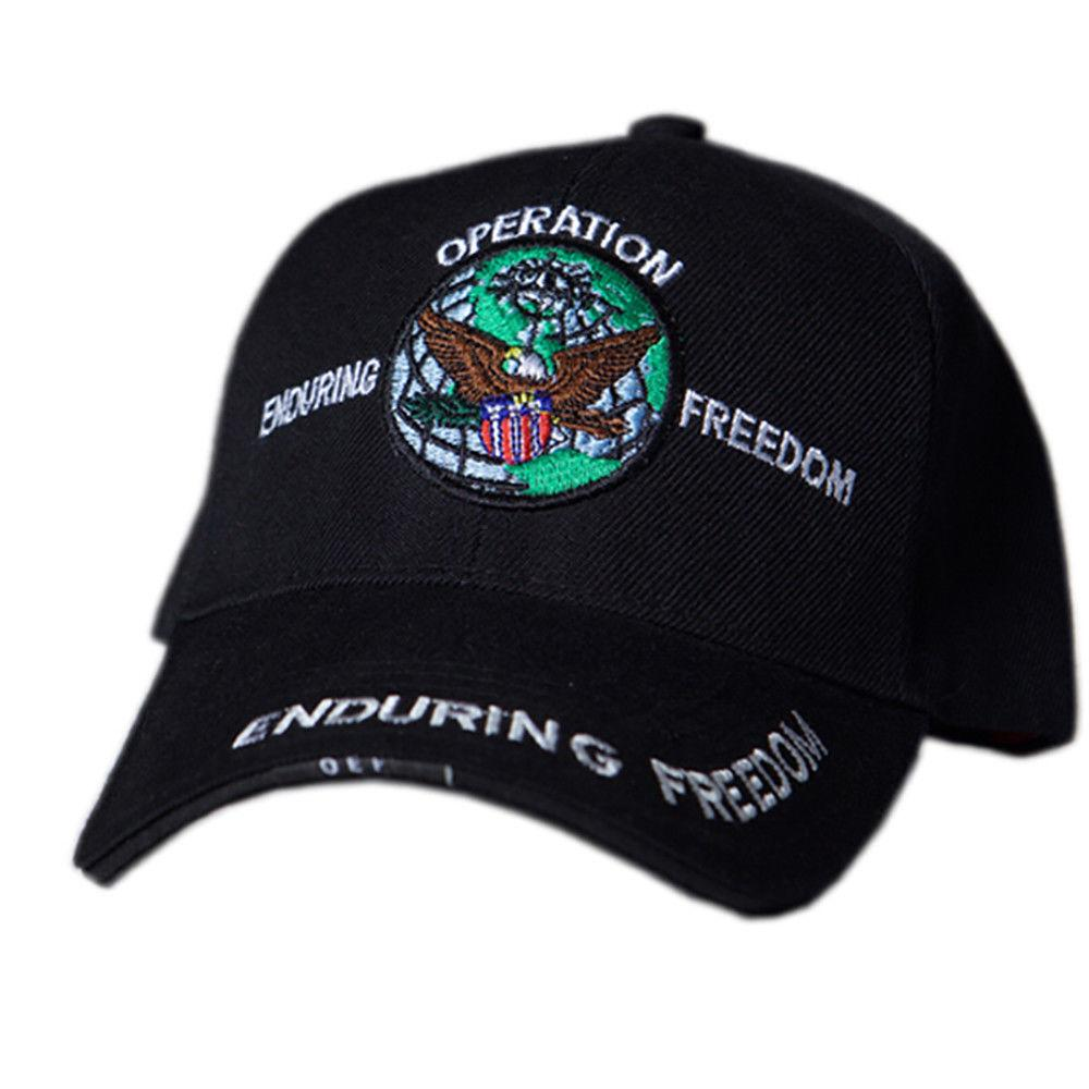US Honor Embroidered Veteran Operation Enduring Freedom Baseball Caps Hats