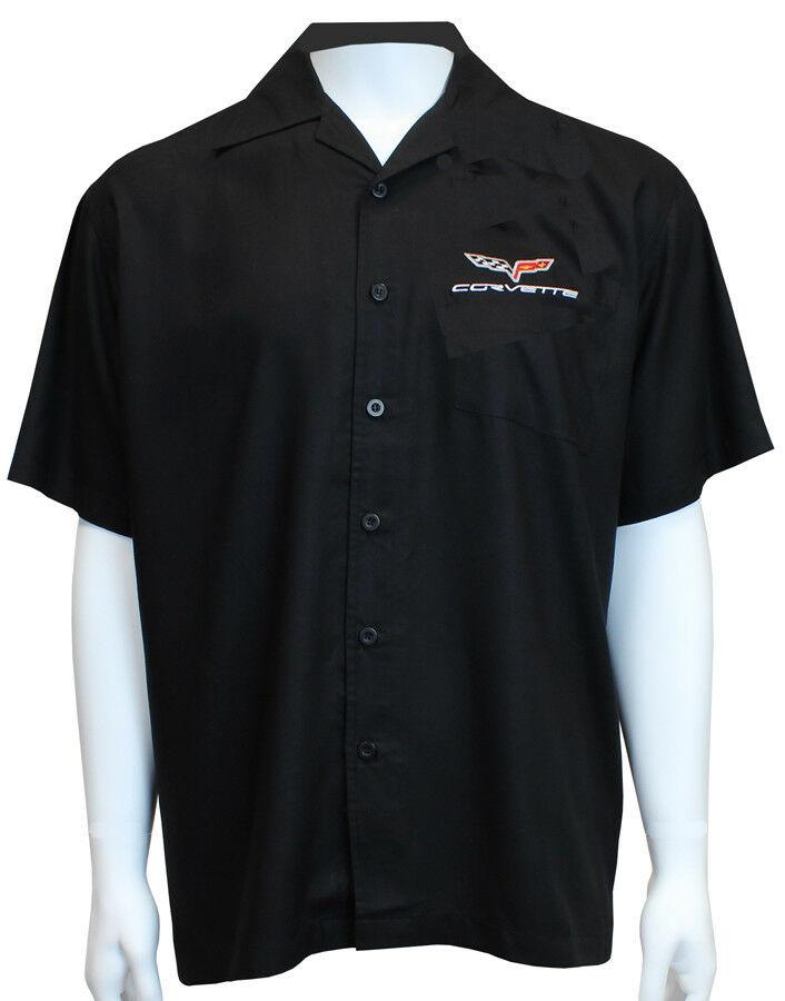 David Carey Classic Corvettes C6 Embroidered Mechanics Work Shirts