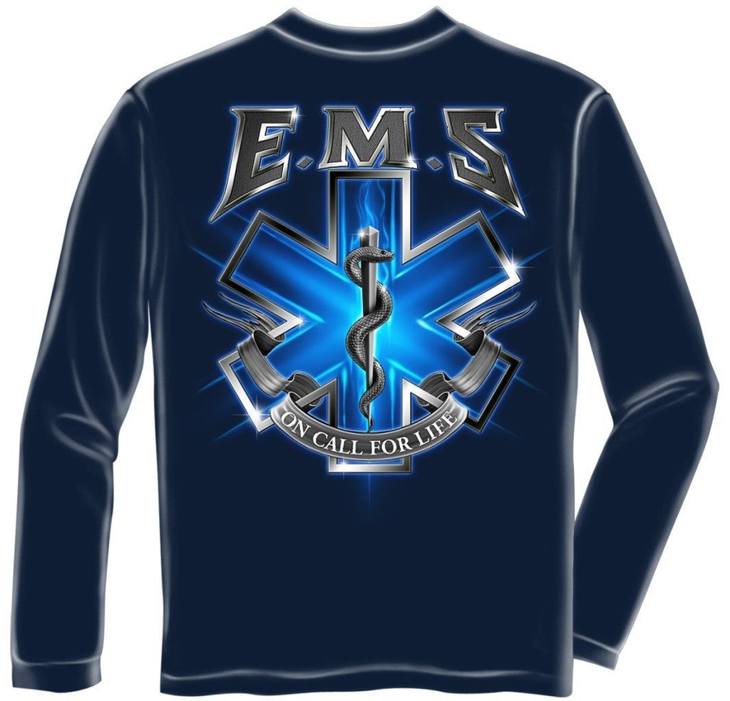Erazor Bits Long Sleeve T-Shirt Emergency Medical Services - EMS On Call For Lif