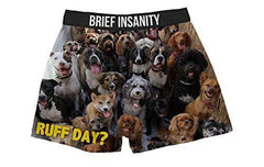 Brief Insanity Dogs Ruff Day Silky Funny Boxer Shorts Gifts for Men Women