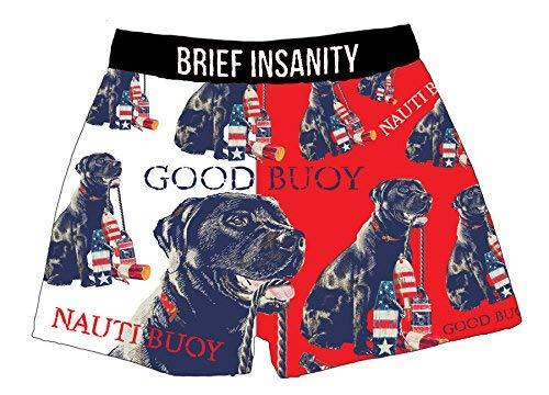 Brief Insanity Good Buoy American Fido Dog Lovers Silky Boxer Shorts Gifts for Men Women