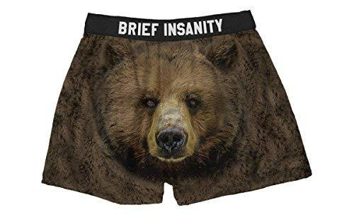 Brief Insanity Bear Cheeks Silky Funny Boxer Shorts Gifts for Men Women