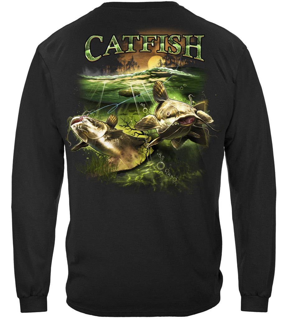Catfish Merky Water Premium Fishing Long Sleeve T-Shirt