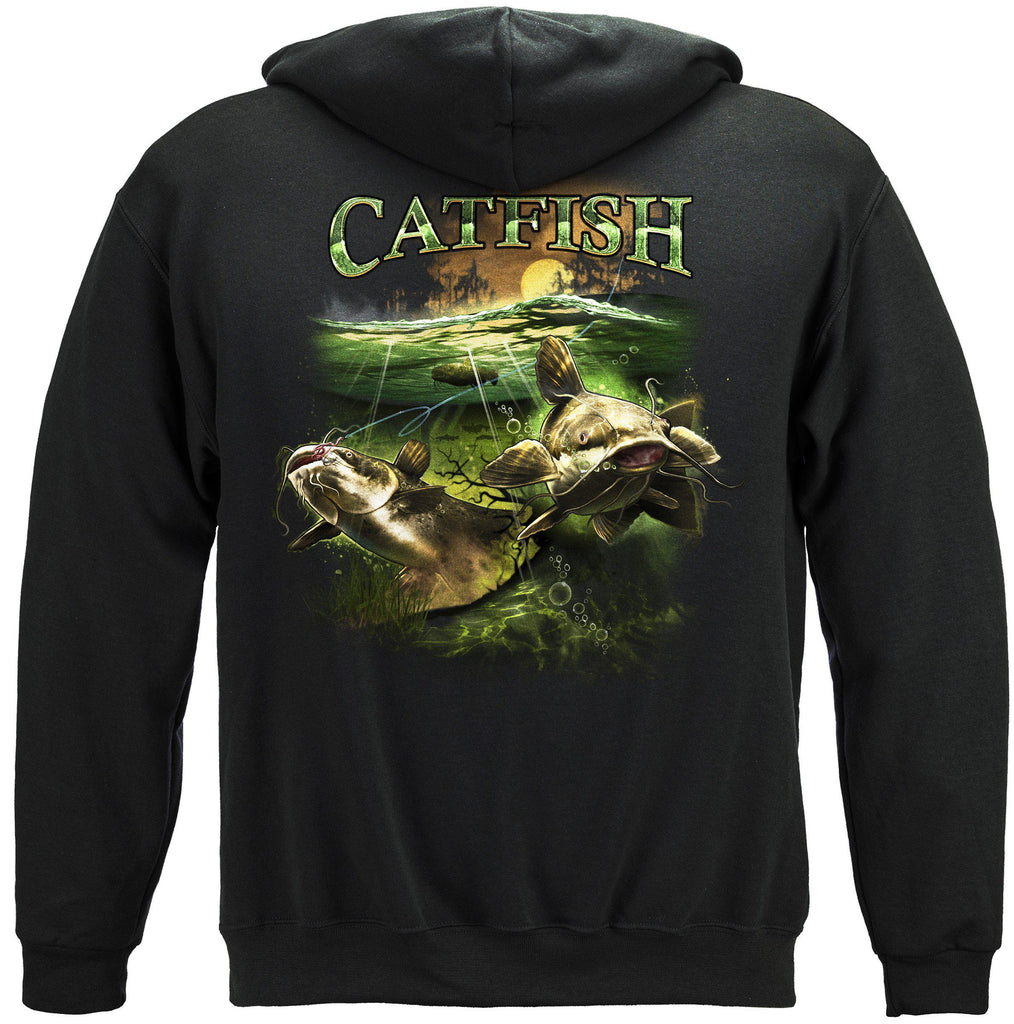 Catfish Merky Water Premium Fishing Hoodie Sweatshirt
