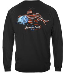 Patriotic Catfish Premium Fishing Long Sleeve T-Shirt