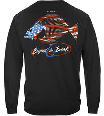 Patriotic Fluke Premium Fishing Long Sleeve T-Shirt